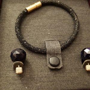 Fossil jewelry set earings bracelet